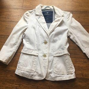 American Eagle white blazer XS